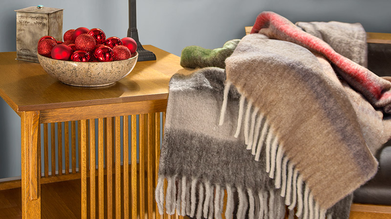 Soft and Cozy Wool Blend Throws