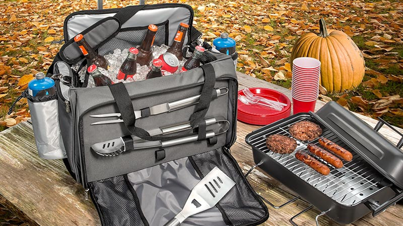 Tote Cooler-BBQ Grill Combo