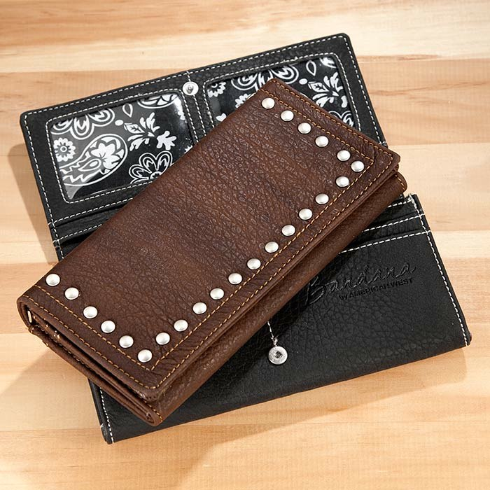 Studded Wallet Black