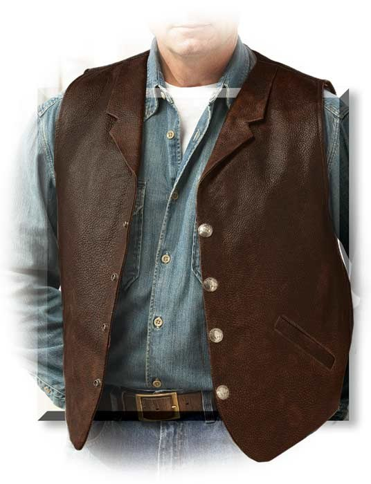 Men's American Bison Lapel Concealed Carry Vest
