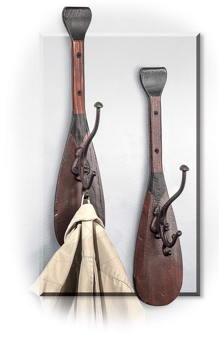Canoe Paddle Jacket Wall Hook