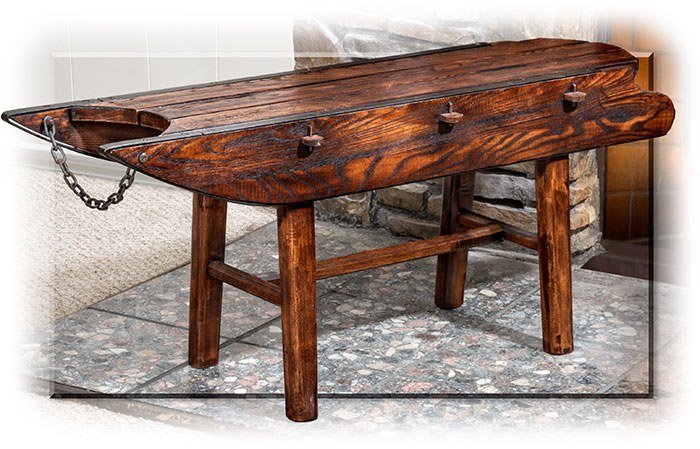 Vintage Childs Sled Bench