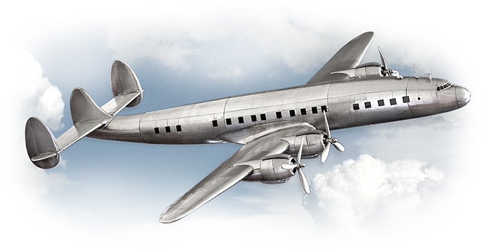 Lockheed Constellation 1945 Model Plane