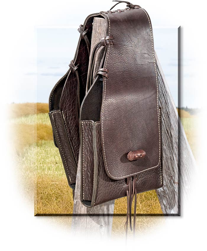 60e67695db4b Leather Saddle Bag K Bar J Bags Accessories. American Bison Leather  Saddlebags Rus S For Men