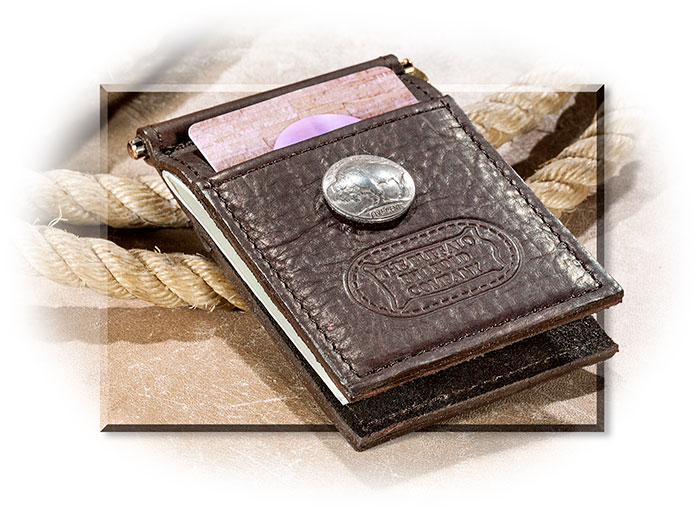 Genuine Buffalo Leather & Buffalo Nickel Money Clip
