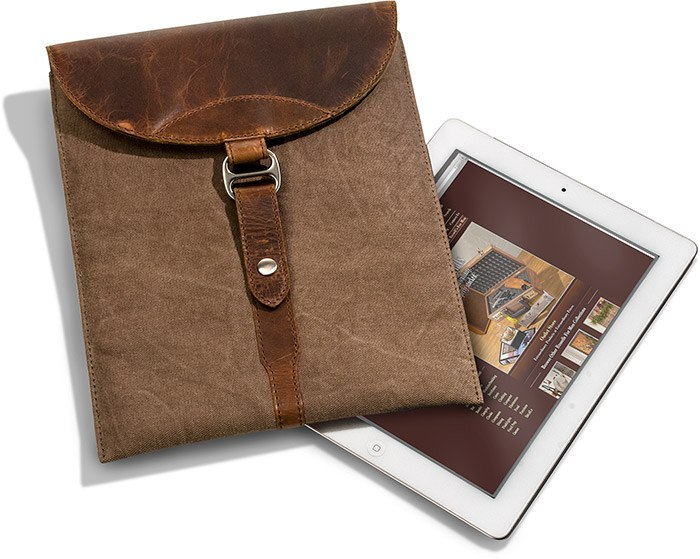 Canvas & Leather iPad Case