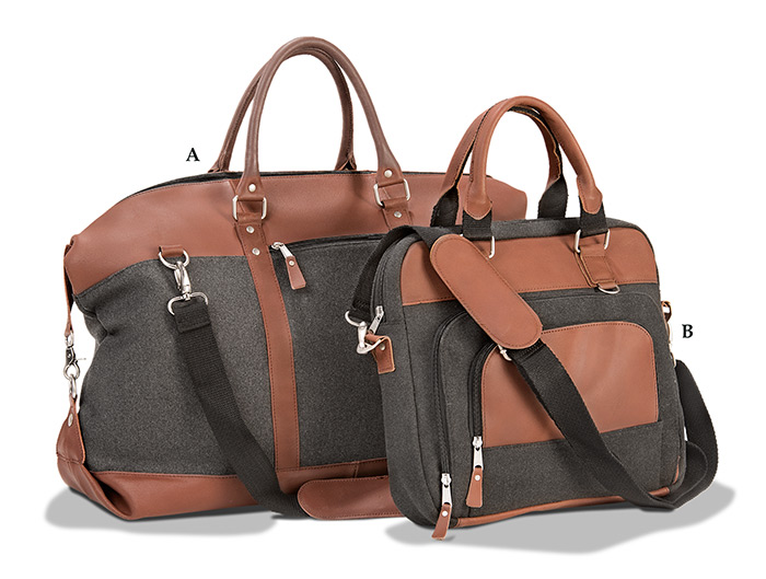 Wool & Leather Duffel & Briefcase
