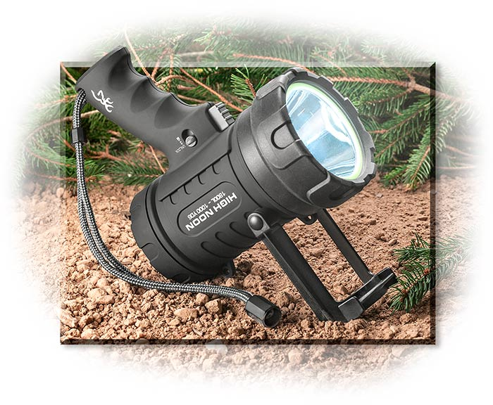 Browning 1800 Lumen Spotlight - Rechargeable battery, up to 1,000 yds, floats, waterproof