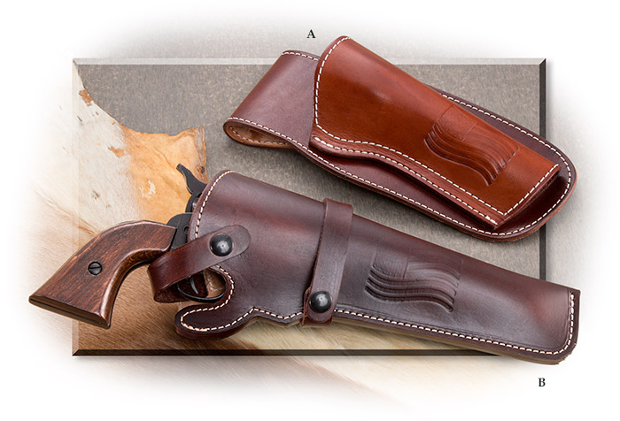 "Horsehide Leather Holster 4"" Barrel Right"