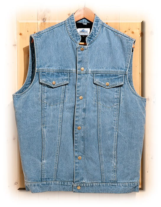 Concealed Carry Men's Denim Vest