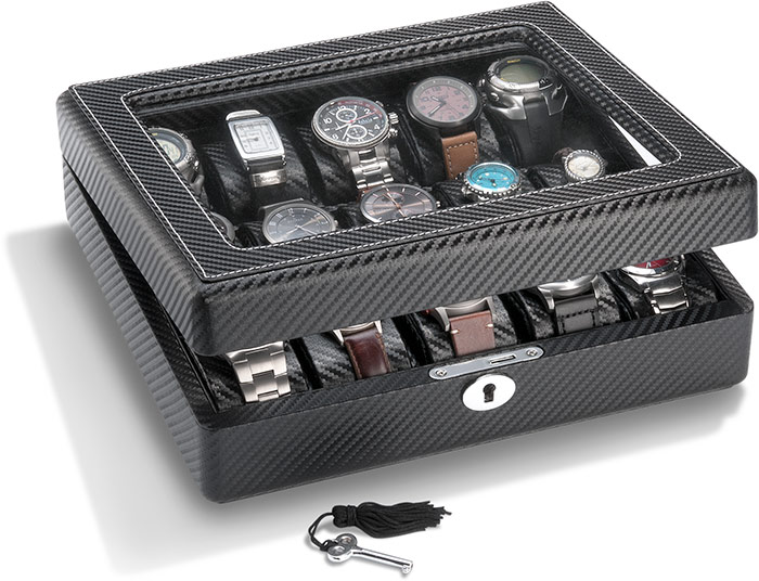 Carbon Fiber Look Watch Case