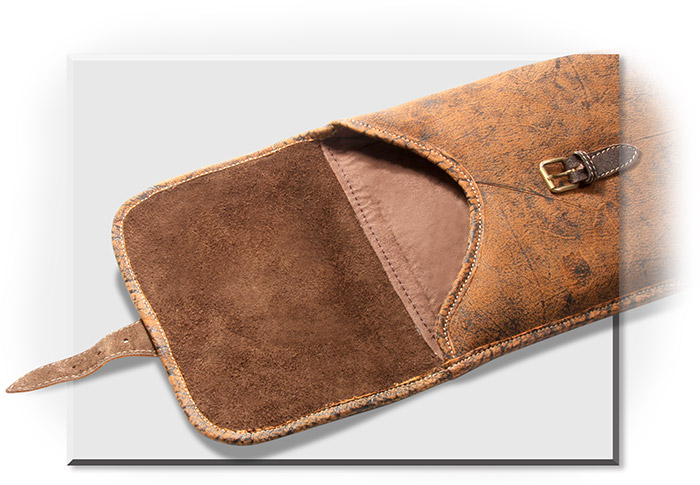Cape Buffalo Leather Gun Case