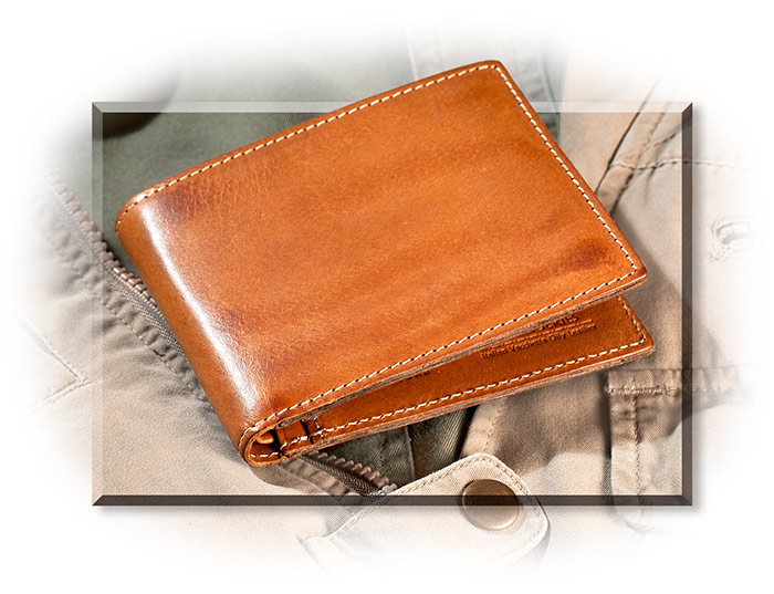 Italian Top Grain Leather Bifold