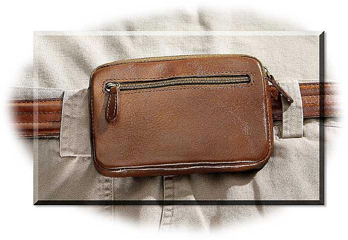 Small Leather Waist Pouch