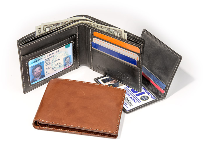 Italian Fine Leather Wallet with RFID black