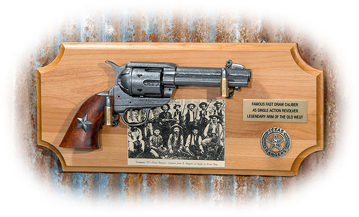 Texas Rangers .45 Revolver Wall Display