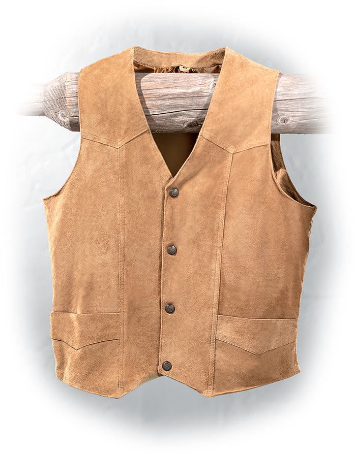 Lightweight Suede Leather Vest