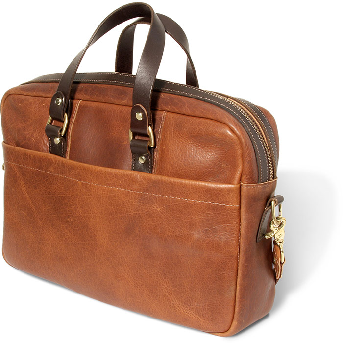 American Bison Leather Conceal Carry Briefcase