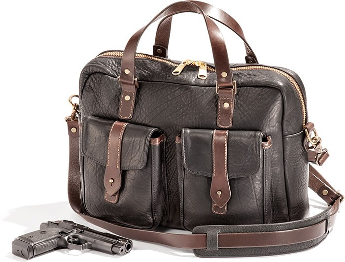 Bison Leather Concealed Carry Briefcase