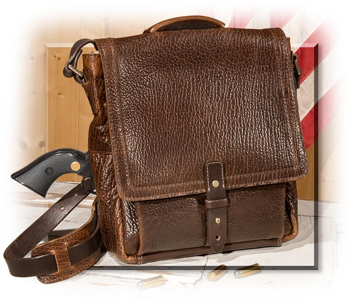 39f3e03b1c American Bison Leather Vertical Briefcase