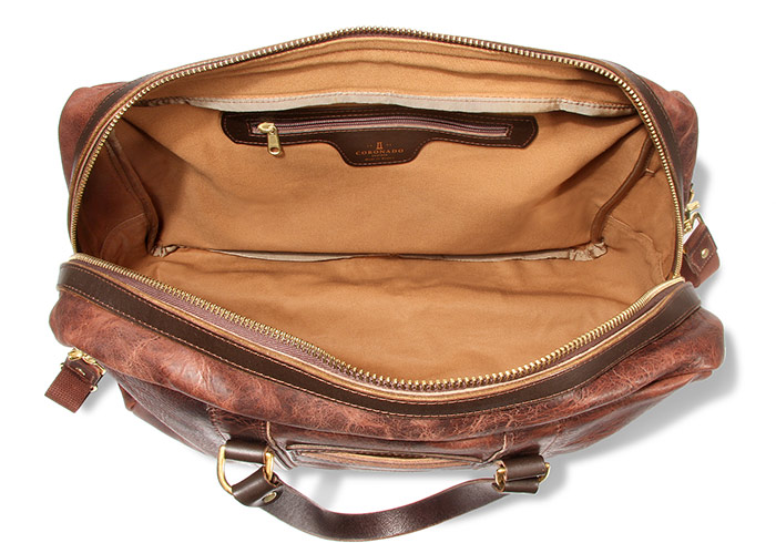 American Bison Leather Duffel