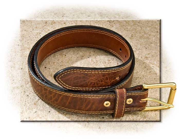 American Bison Leather Belt size 36