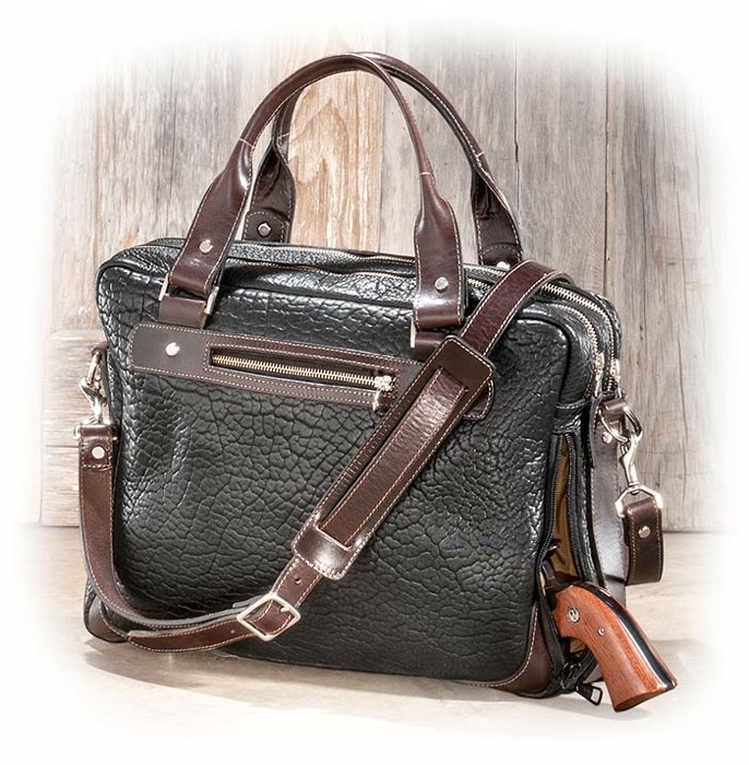 Black and Brown Concealed Carry Briefcase