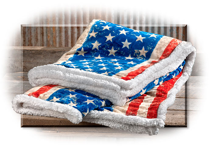 Stars and Stripes Fleece Throw