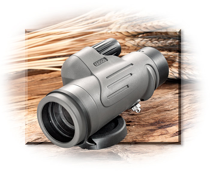 MONOCULAR W/ SMARTPHONE ADAPTER- 42 MM LENS W/ 8X MAGNIFICATION FIELD OF VIEW IS 394 FT. - GRAY & BL