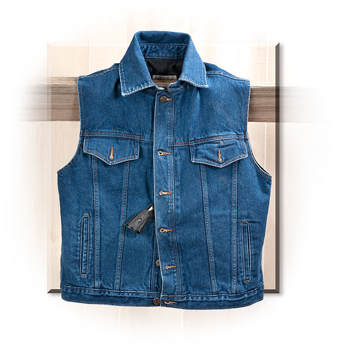 Denim Concealed Carry Vest medium