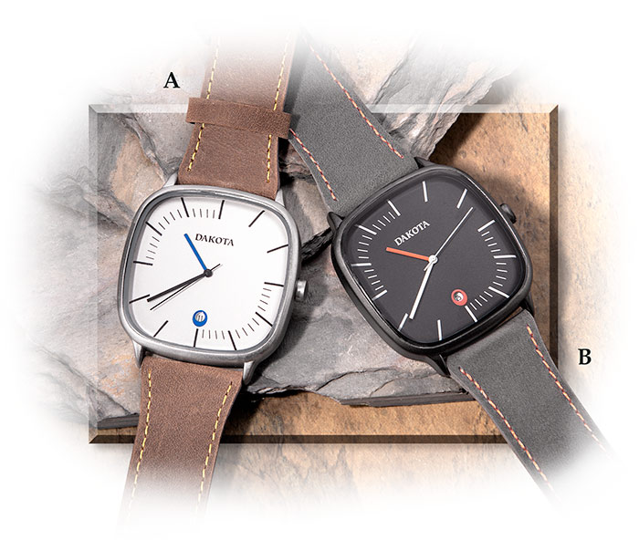 RUGGED EVERYDAY WEAR WATCH - LIGHT TAN FACE / BROWN LEATHER STRAP - JAPANESE QUARTZ MOVEMENT