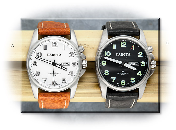 Moonglow Leather Watch
