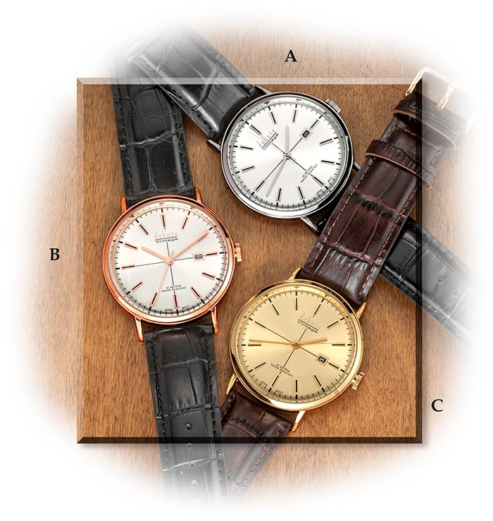 Three Dress Watches