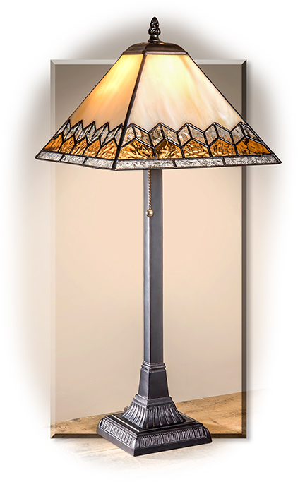 Mission Style Stained Glass Table Lamp. Mission Style Stained Glass Table  Lamp