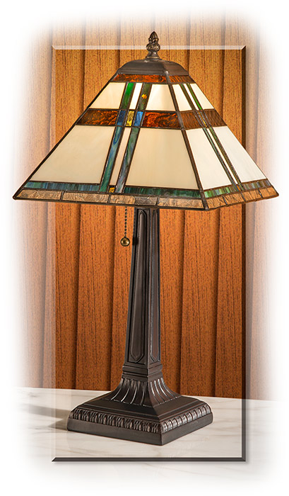 Mission Style Stained Glass Lamp