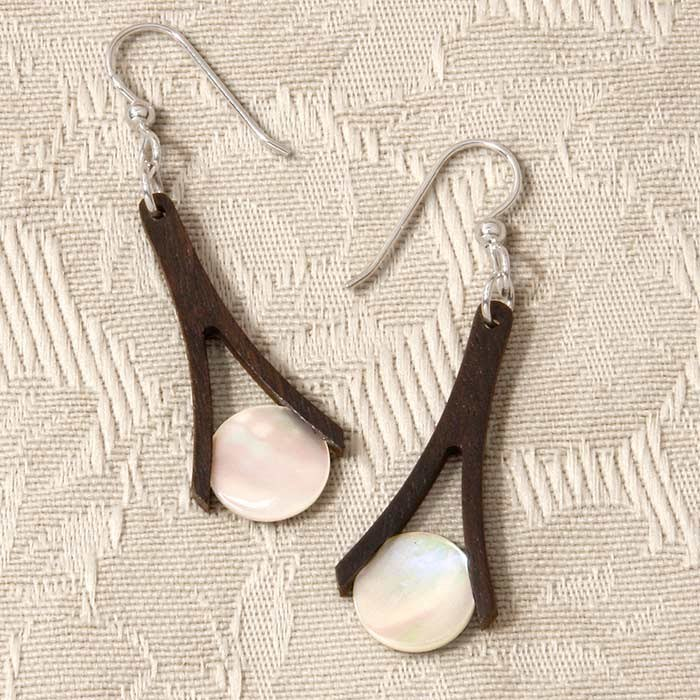 Ebony Wishbone Earrings