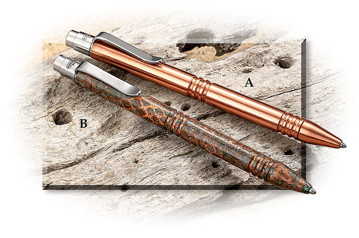 Tactical Copper Ball Point Pens Satin Finish