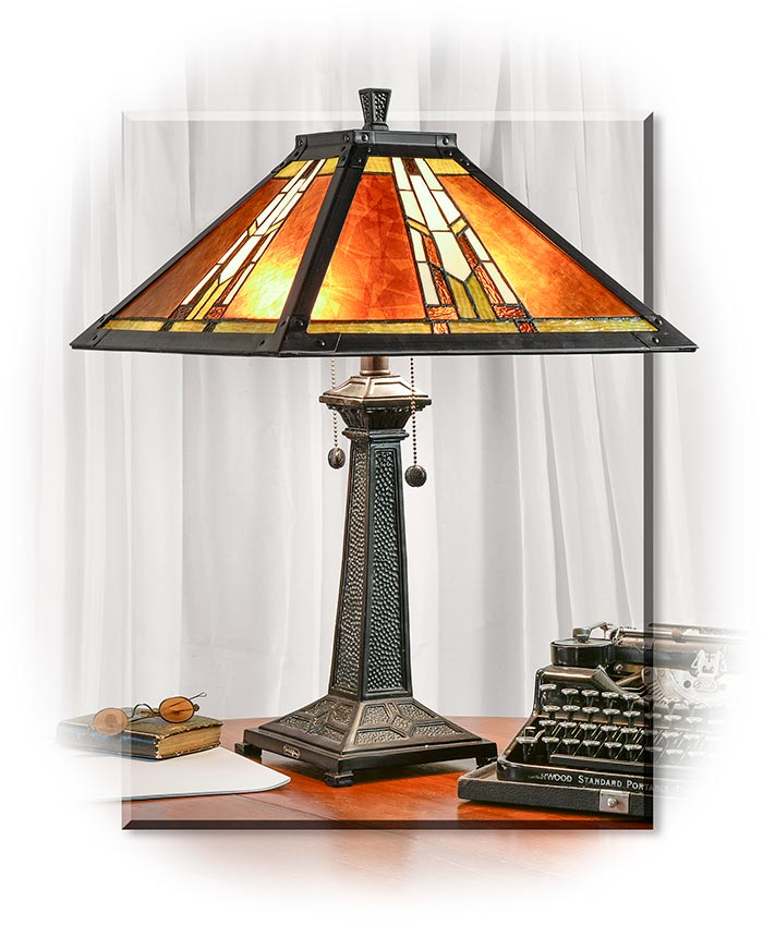 Mica Shade Mission Style Table Lamp Russell S For Men