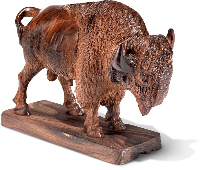 Desert Ironwood Bison Carving