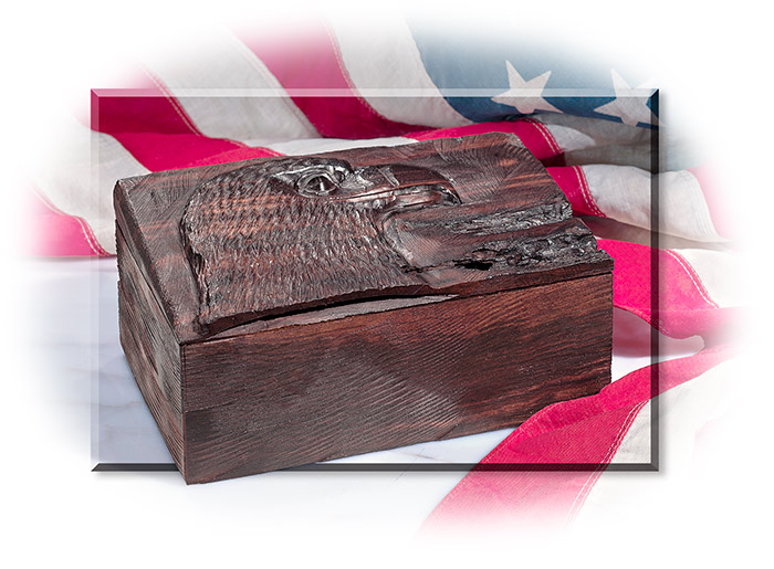 Desert Ironwood Box with Eagle