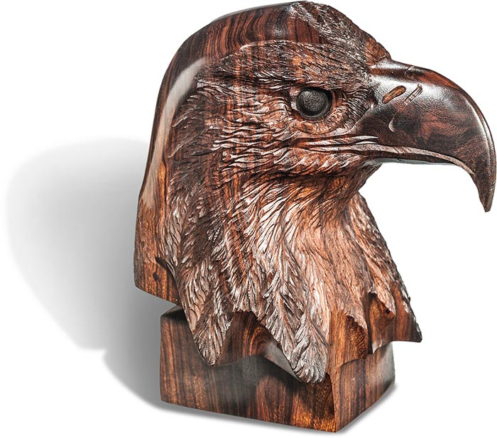 Desert Ironwood Eagle Bust