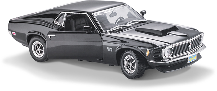 1970 MUSTANG BOSS BLACK 1:18 SCALE