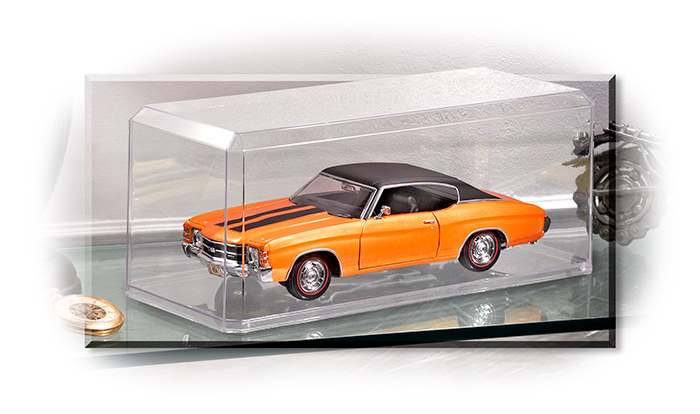 1971 CHEVY CHEVELLE SS - SPECIAL EDITION - 1:18 SCALE DIECAST CAR MODEL - ORANGE & BLACK