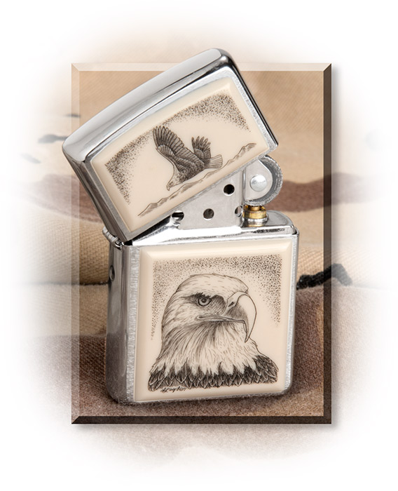 Scrimed Soaring Eagle Zippo Lighter