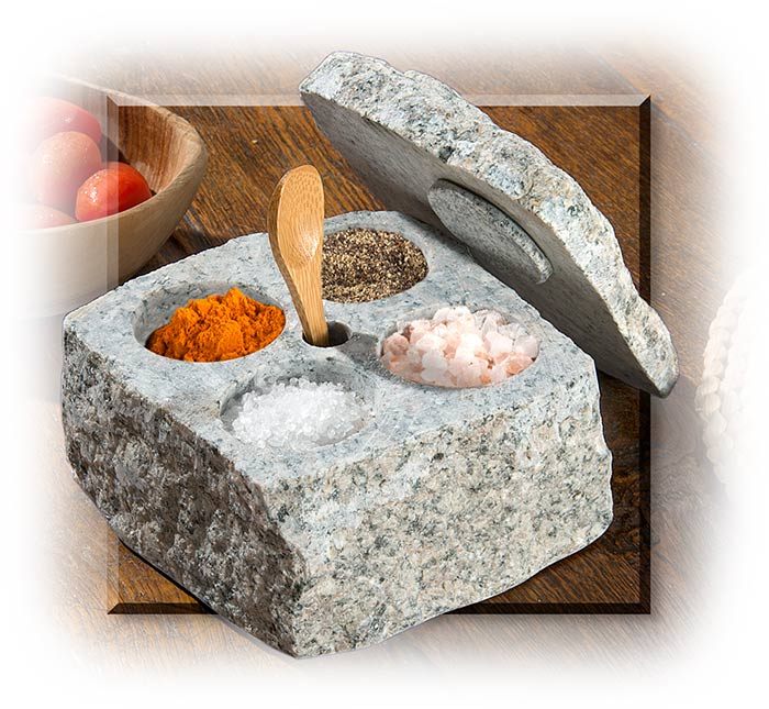 Granite Salt & Spice Cellar