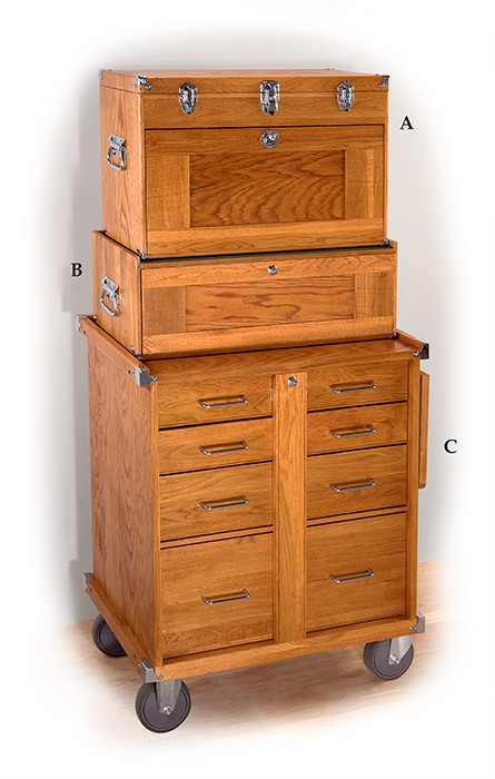 11-Drawer Top Chest-Oak