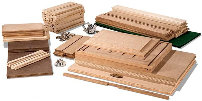 Gerstner Oak 7 Drawer Kit