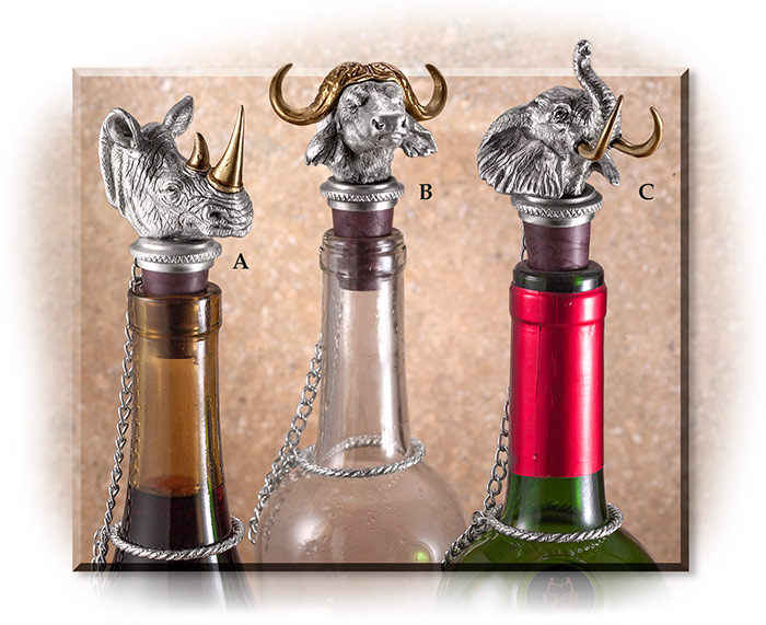 African Big 5 Bottle Stoppers Rhino