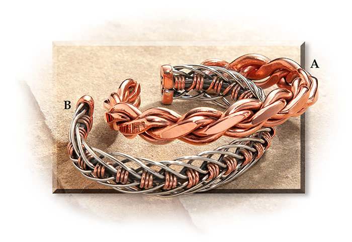 Braided Copper Wire Bracelets Rus