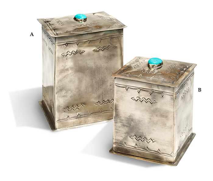 Rustic Nickel Silver Canisters